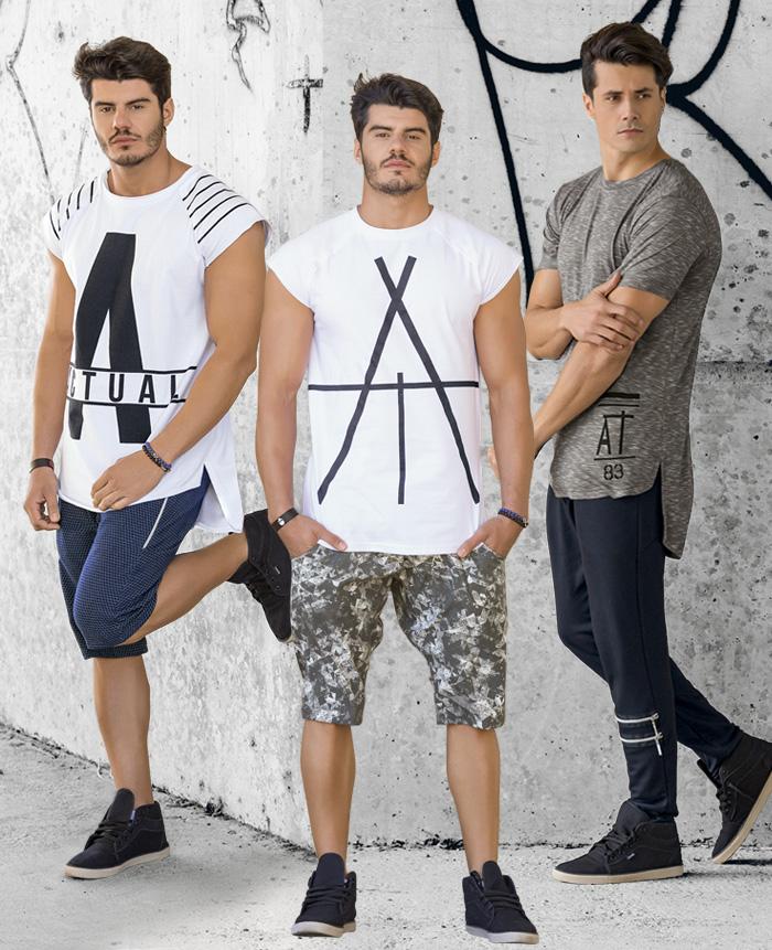 8653a6d40 Clique aqui para conferir a nova coleção de camisetas da revista Actual  Moda Masculina. Abraço