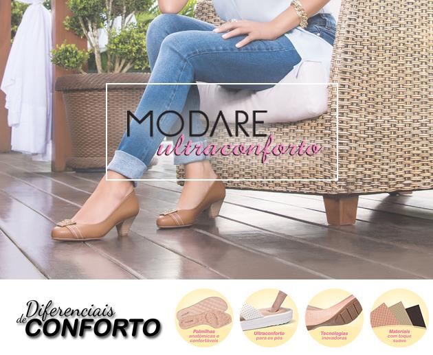 fb527798d6 Modare Ultra Conforto  seus pés merecem qualidade! - Mundo Quatro ...