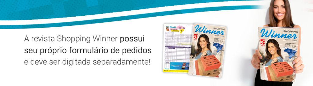 Revista Shopping Winner e seu formulário de pedidos